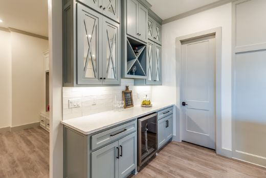 small renovated kitchen pantry area with modern look   sunshine coast carpenters